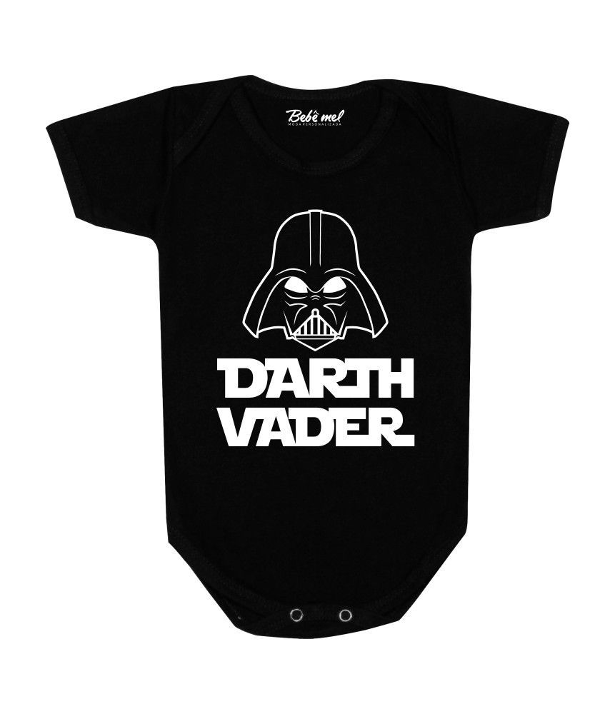 Body Bebê Geek Darth Vader Star Wars