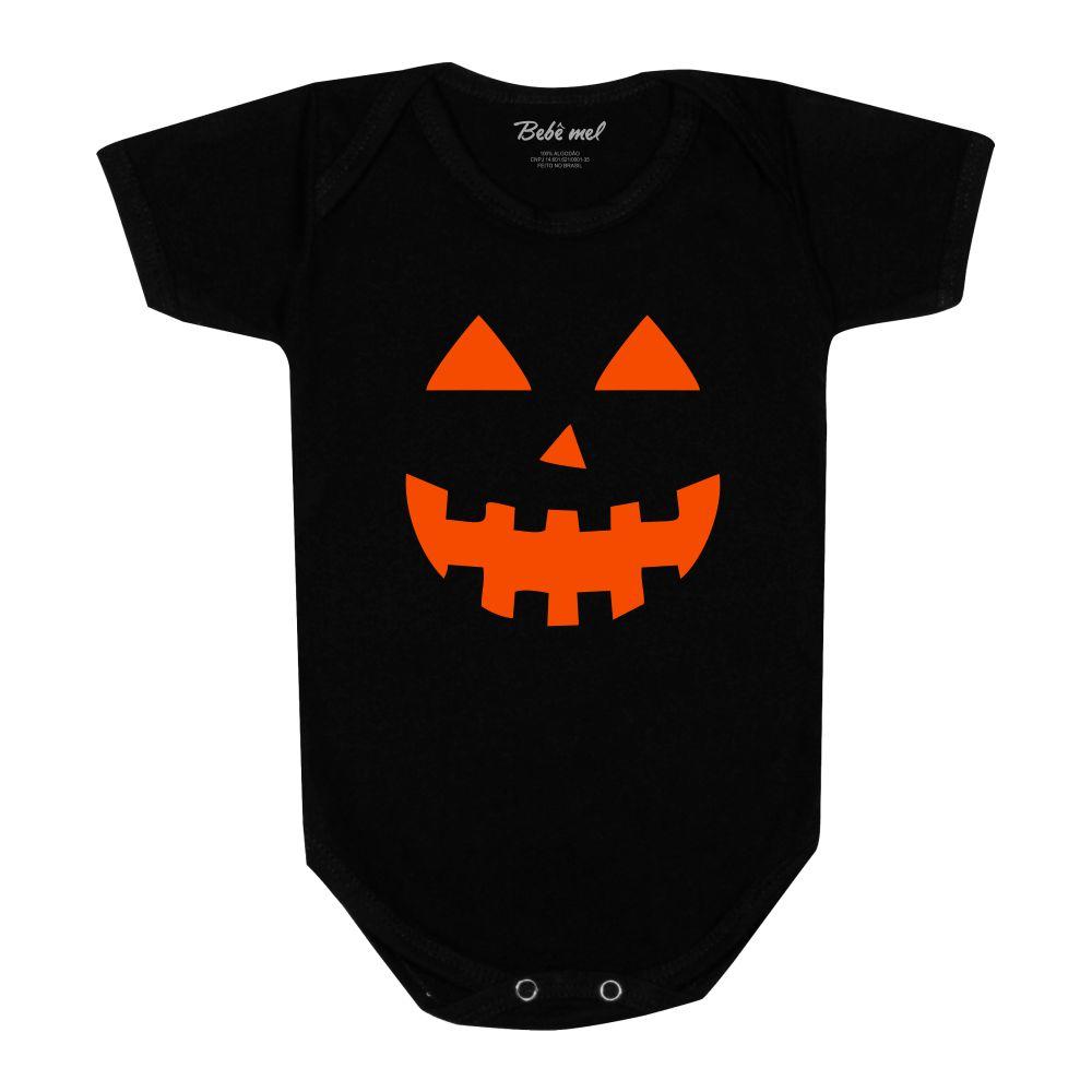 Body Bebê Halloween Divertido Roupa Abóbora