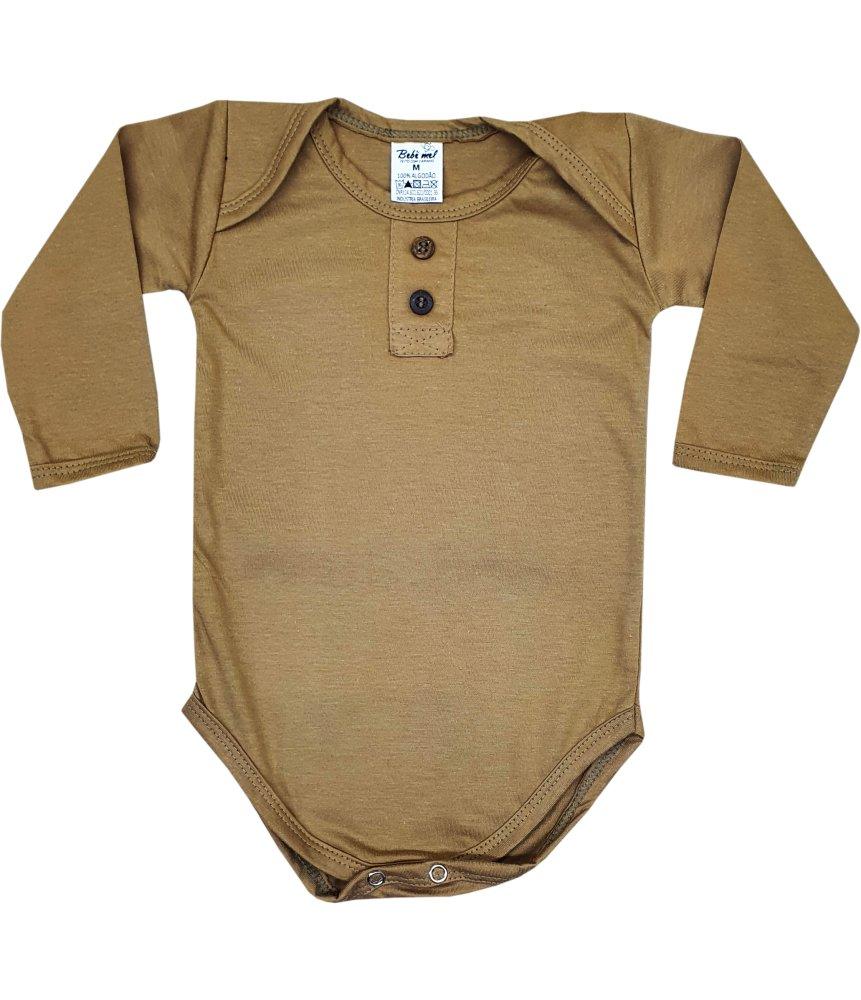 Body Bebê Inverno Longo Botões