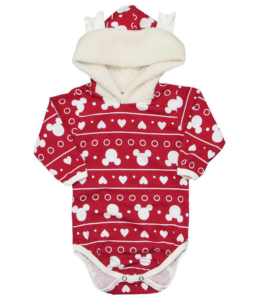 Body Bebê Inverno Longo com Capuz Pelinho Minnie
