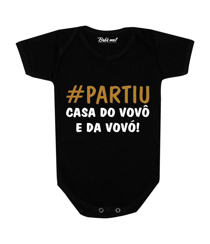 Body Bebê #PartiuCasa do Vovô e da Vovó