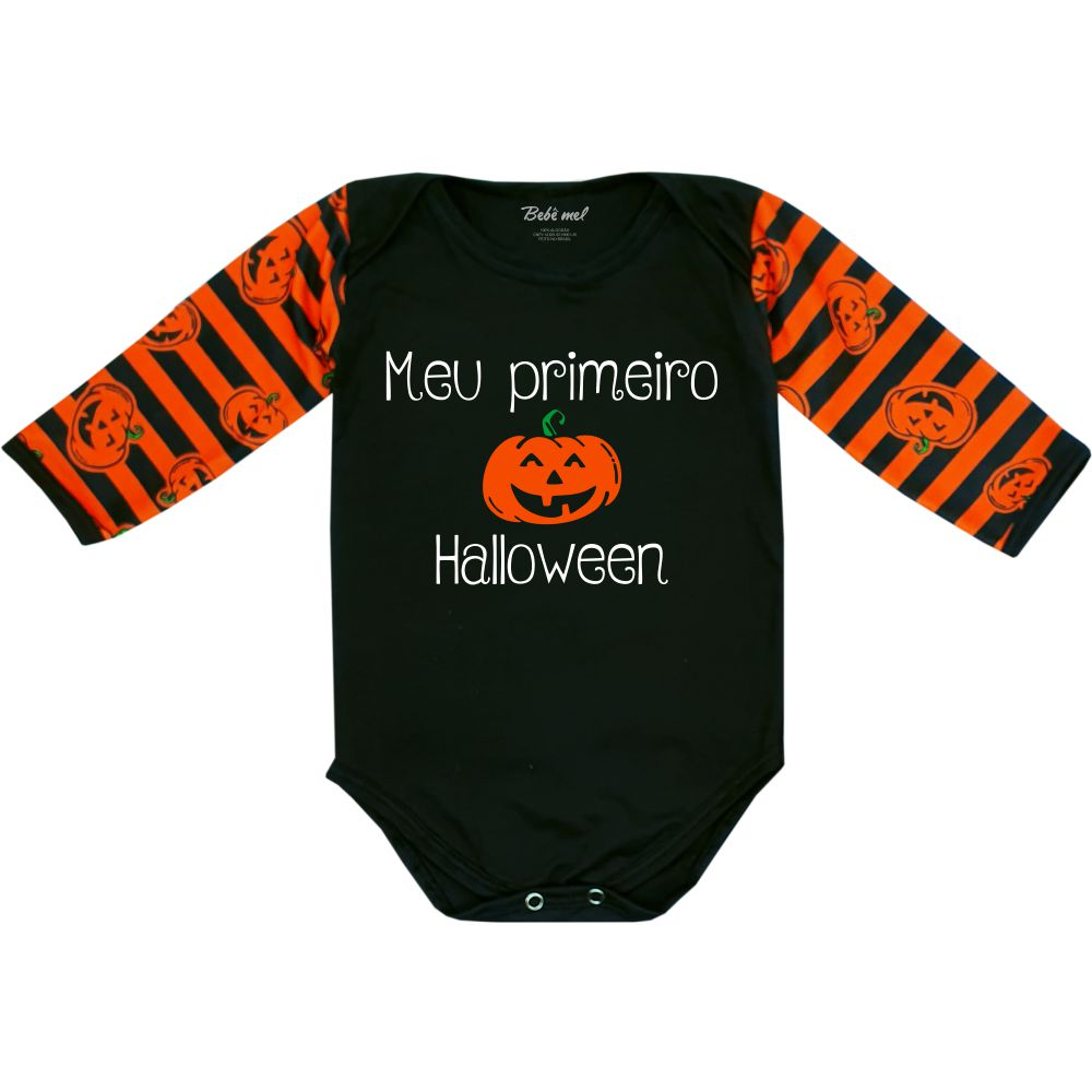 Body Bebê Primeiro Halloween Divertido Abóbora