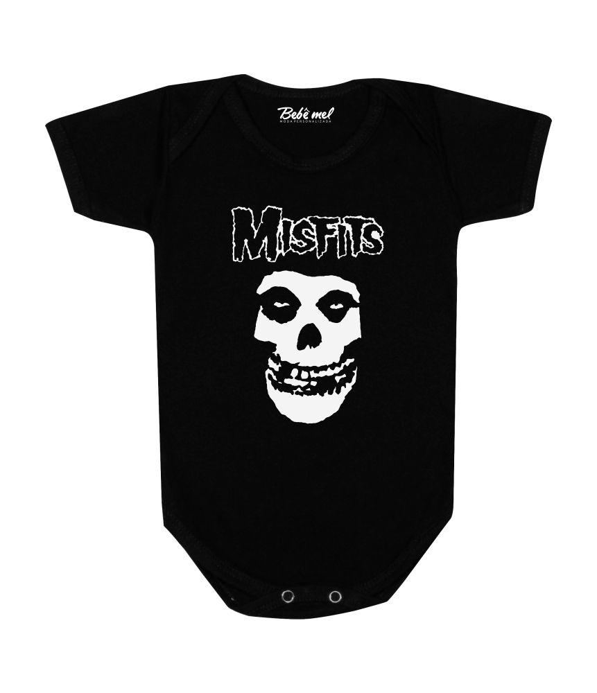Body Bebê Rock Banda Misfits