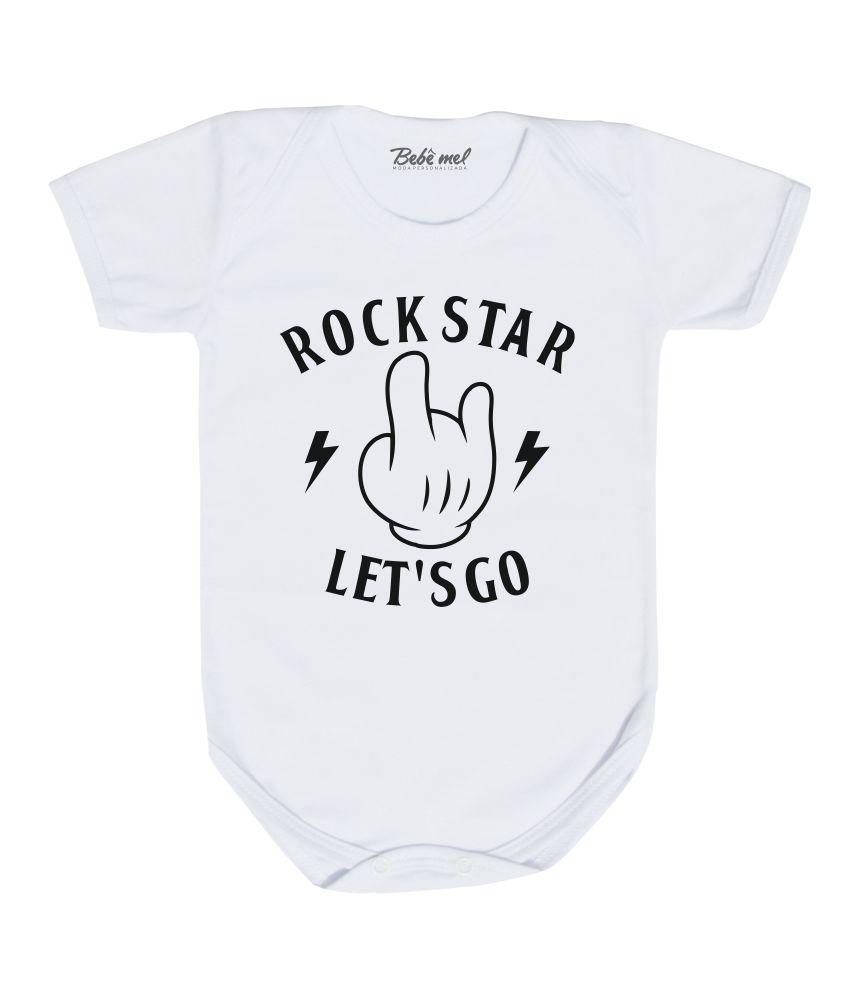Body Bebê Rock Star Let´s Go Mickey