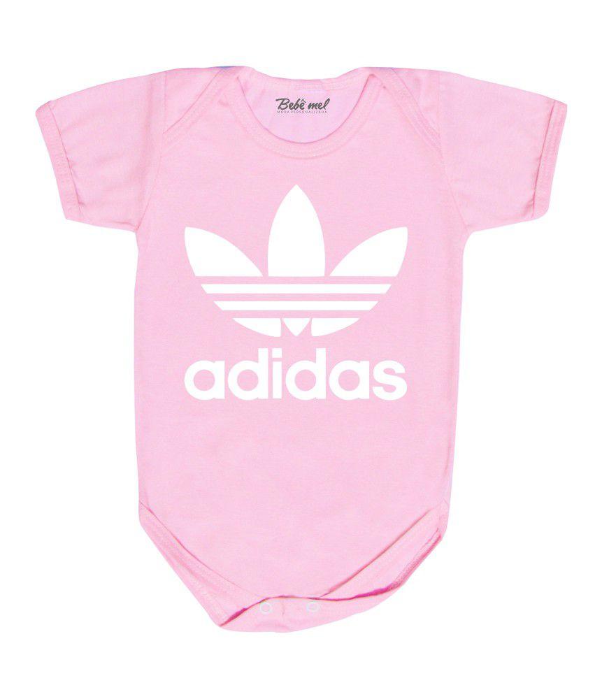 Body de Bebê Adidas Rosa