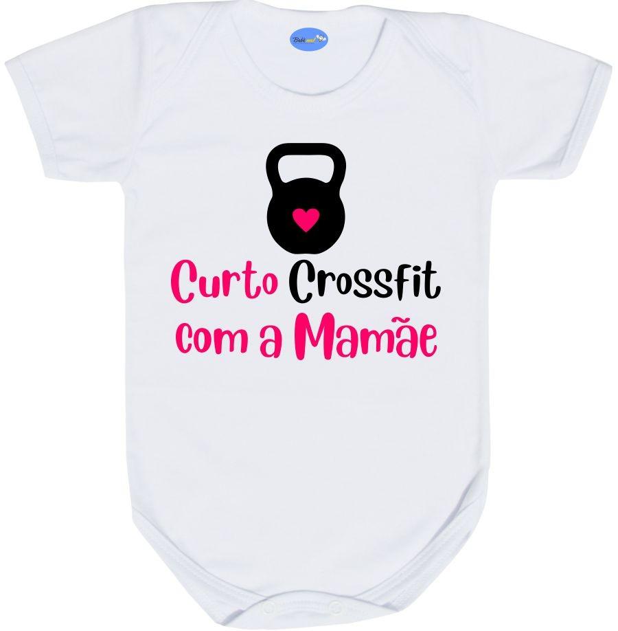 Body de Bebê Curto Crossfit com a Mamãe