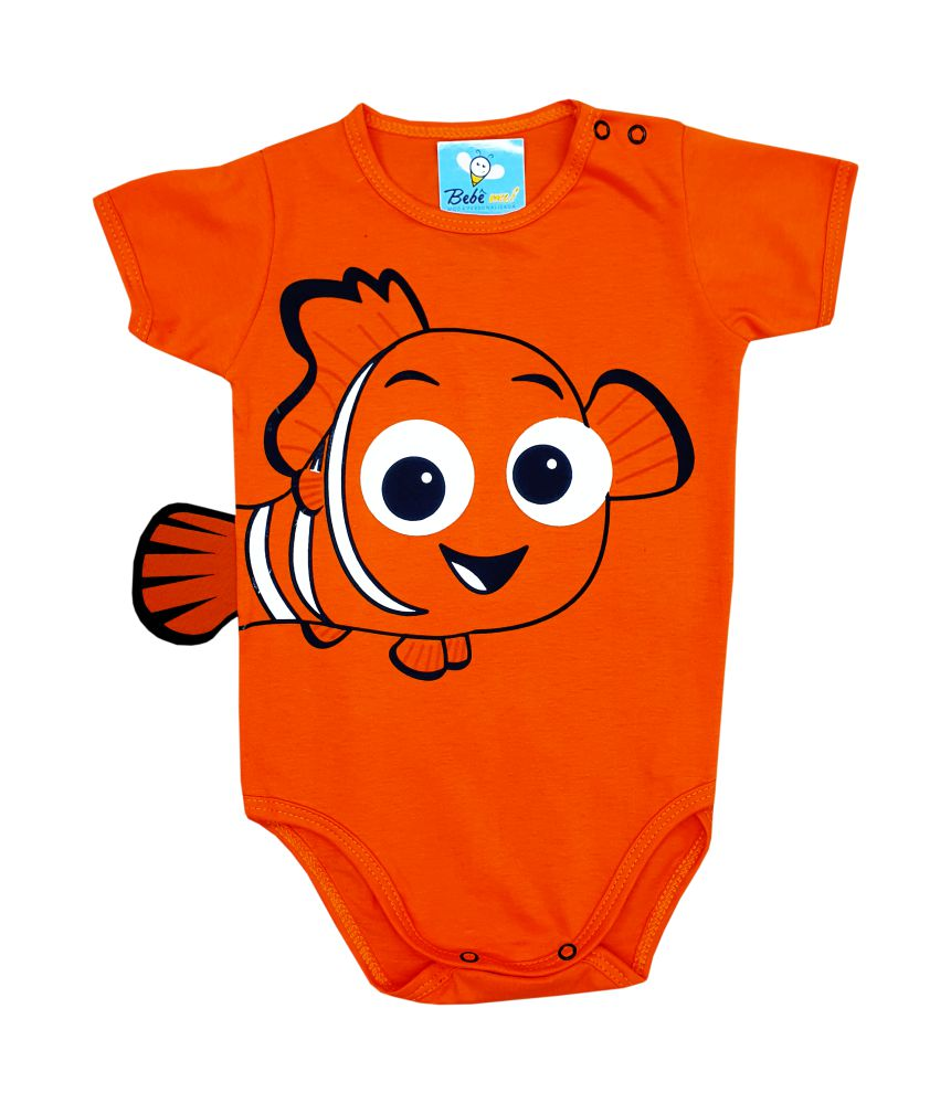 Body de Bebê Personagem Nemo Mêsversário