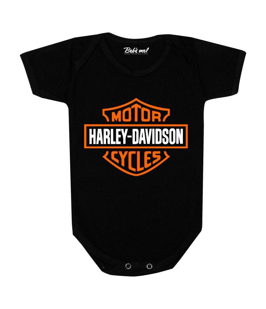 Body de Bebê Personalizado Harley Davidson