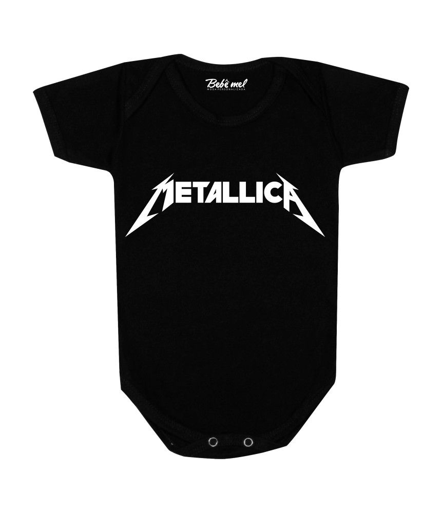 Body de Bebê Rock Banda Metallica