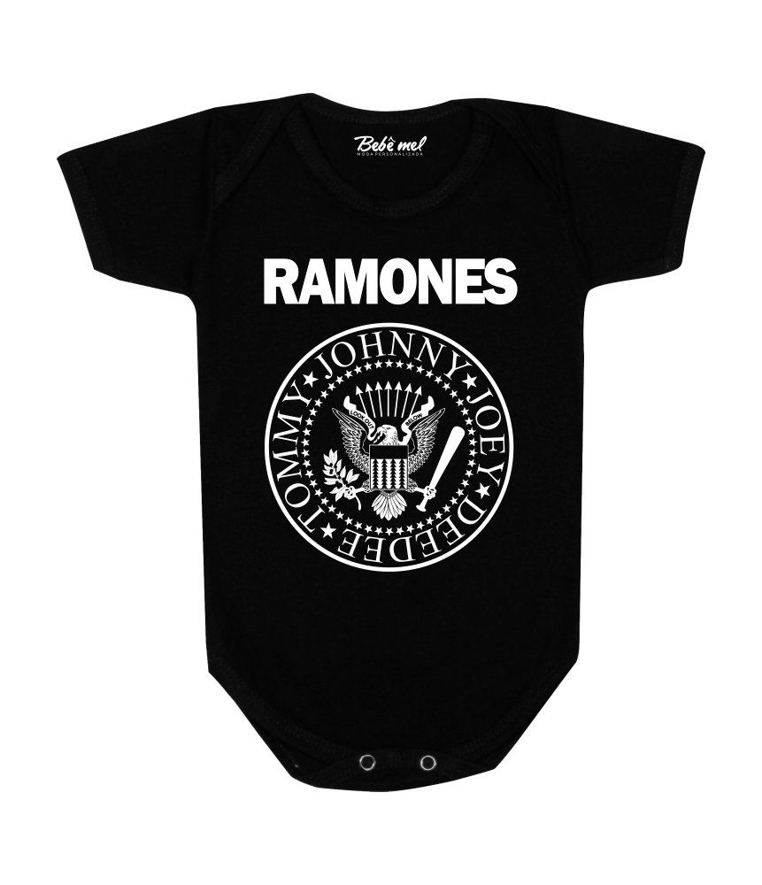 Body de Bebê Rock Banda Ramones