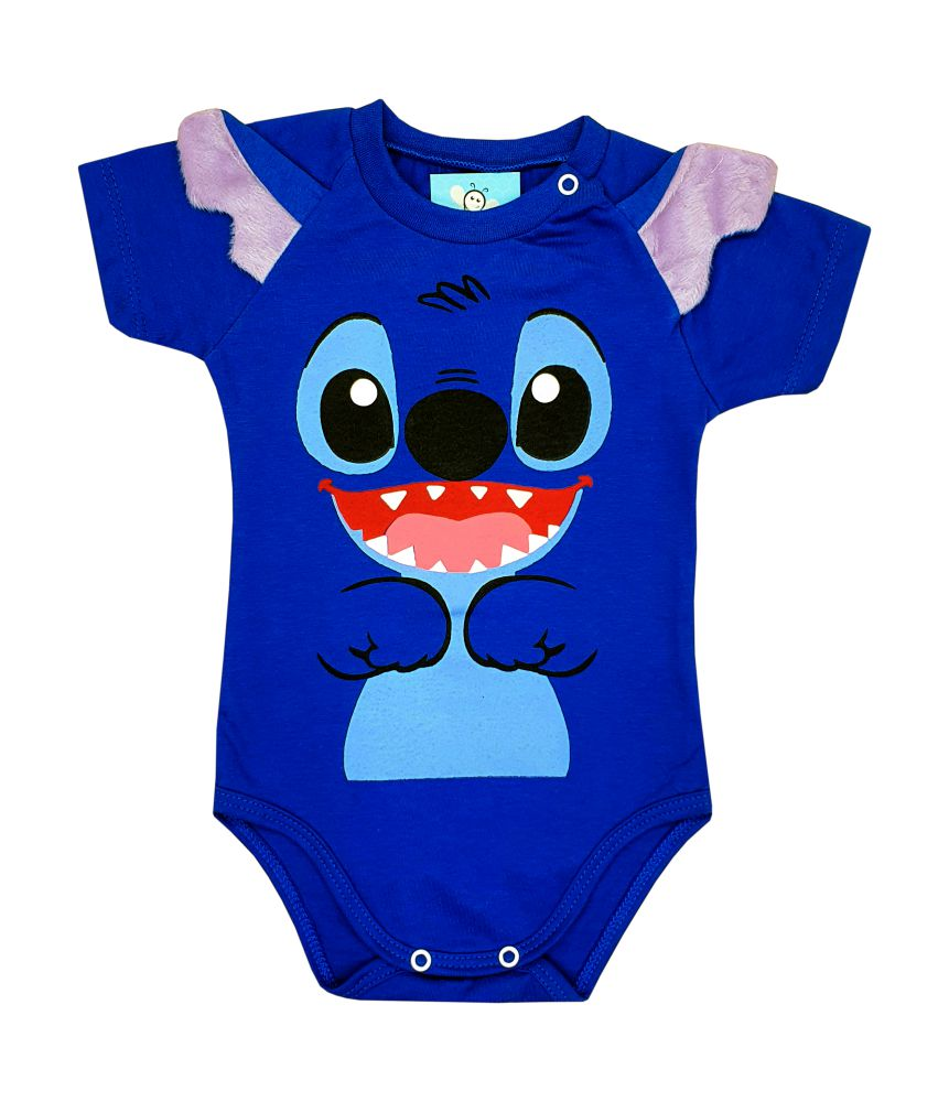 Body de Bebê Stitch Mêsversário