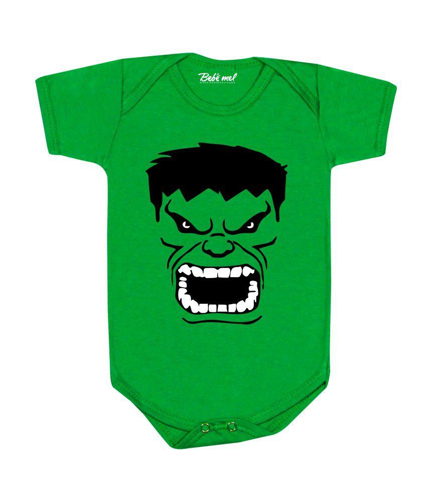 Body de Bebê Super Herói Hulk