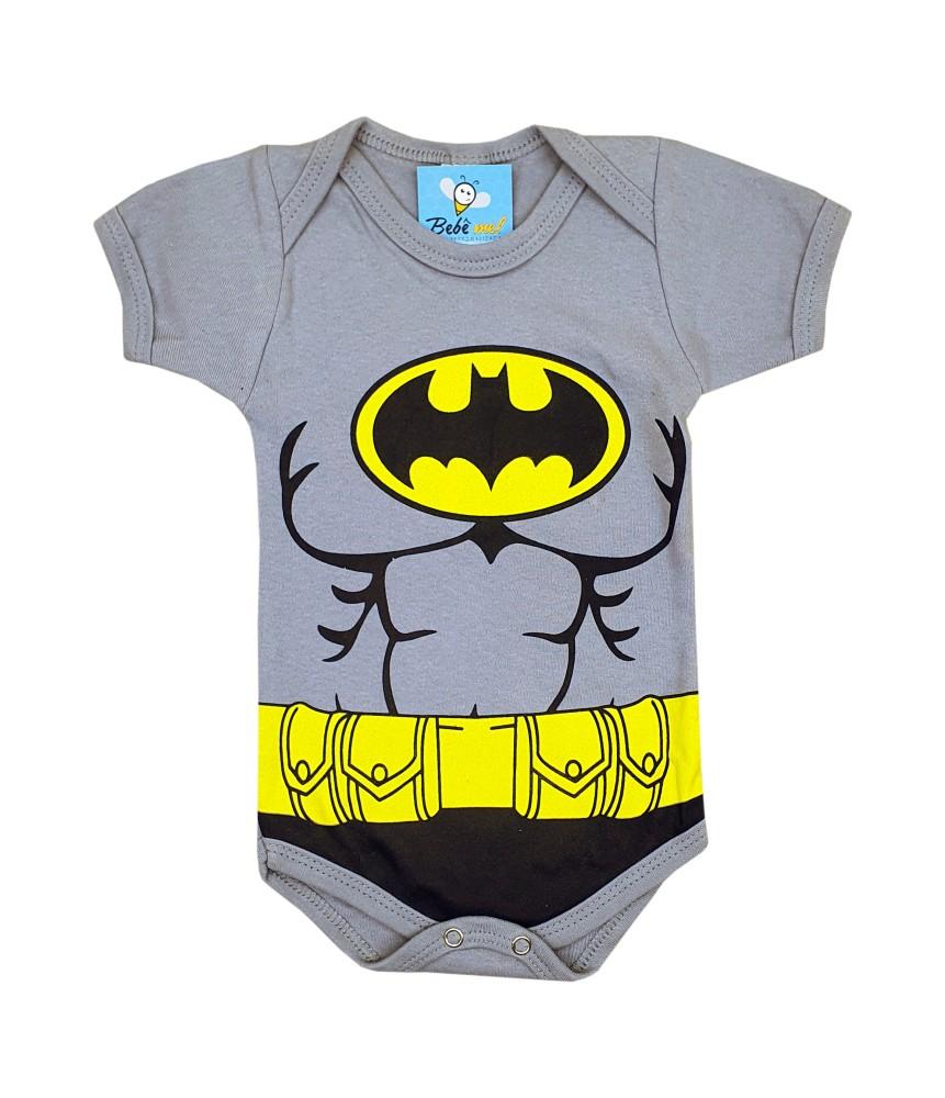 Body de Bebê Super Herói Mêsversário Batman