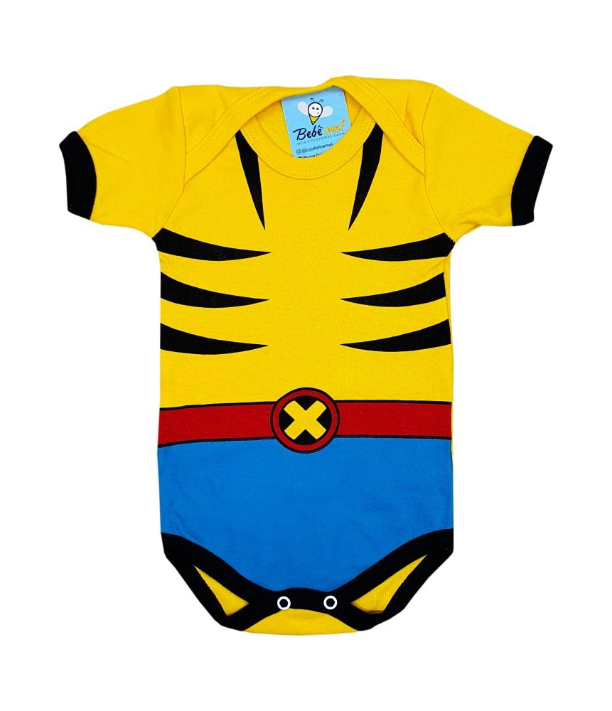 Body de Bebê Super Herói Mêsversário Wolverine