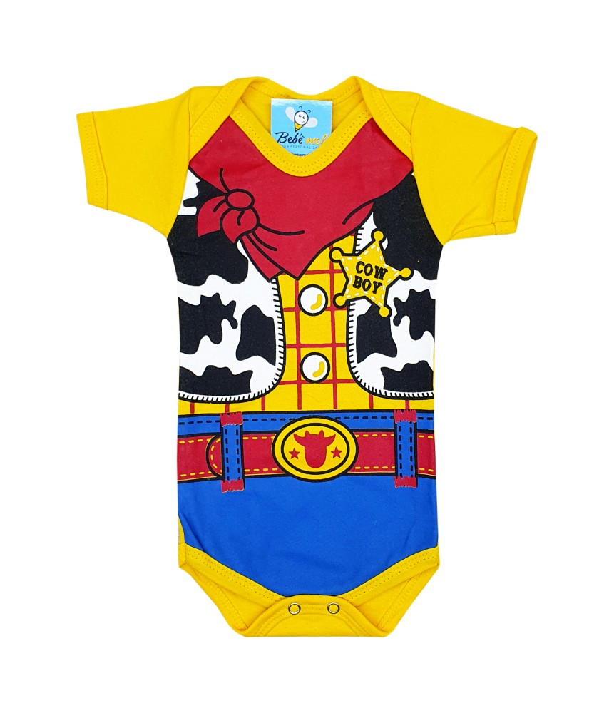 Body de Bebê Super Herói Mêsversário Woody Toy Store