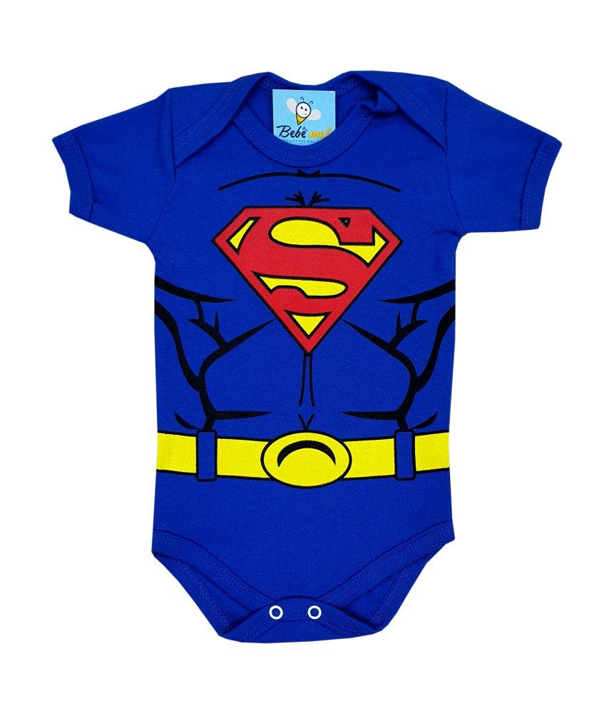 Body de Bebê Super Herói Superman Mêsversário