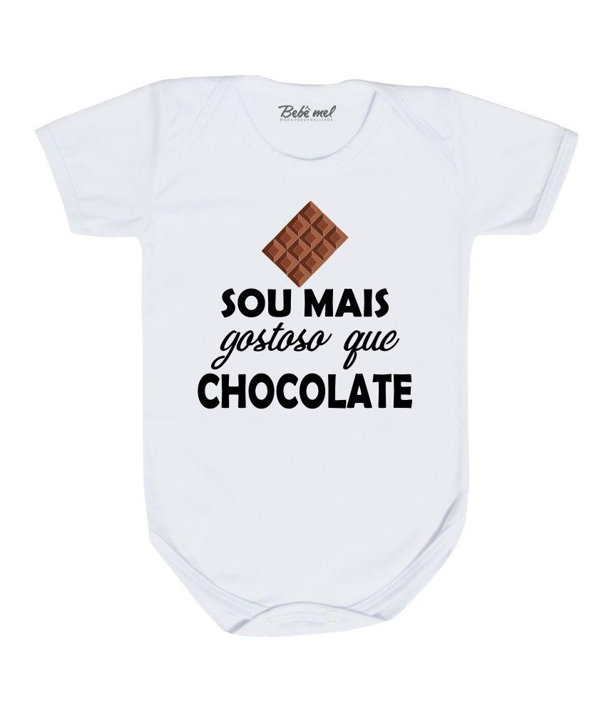 Body de Páscoa para bebê Mais Gostoso que Chocolate