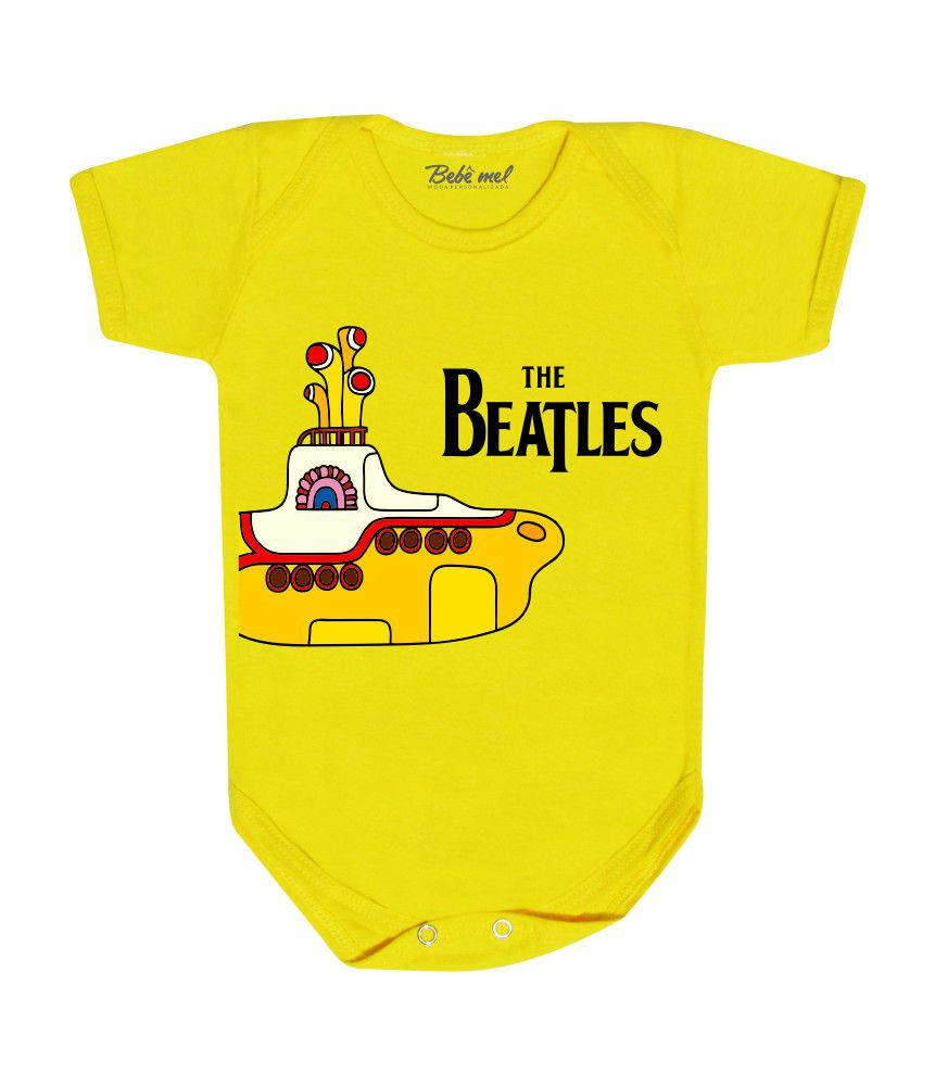 Body de Rock Bebê Banda The Beatles