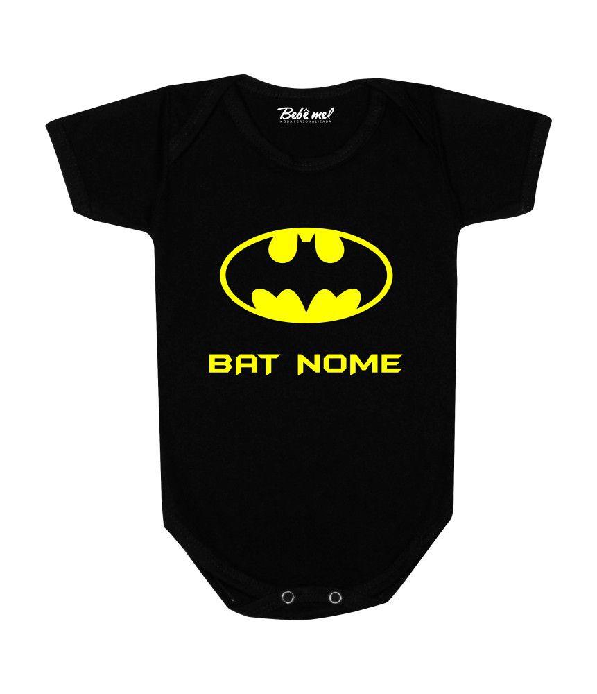 Body de Super Herói Bebê Batman