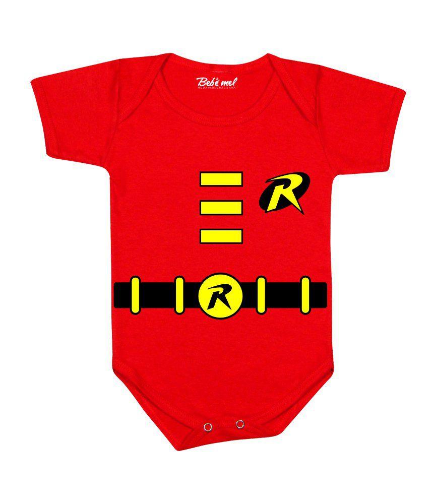 Body de Super Herói Bebê Robin