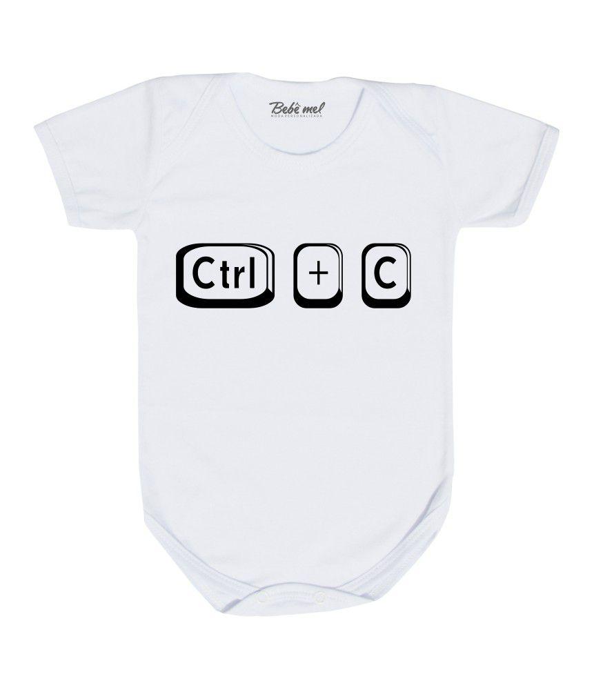 Body Divertido Bebê Gêmeos CTRL + C