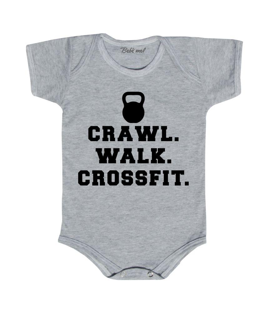 Body para Bebê Frase Crossfit
