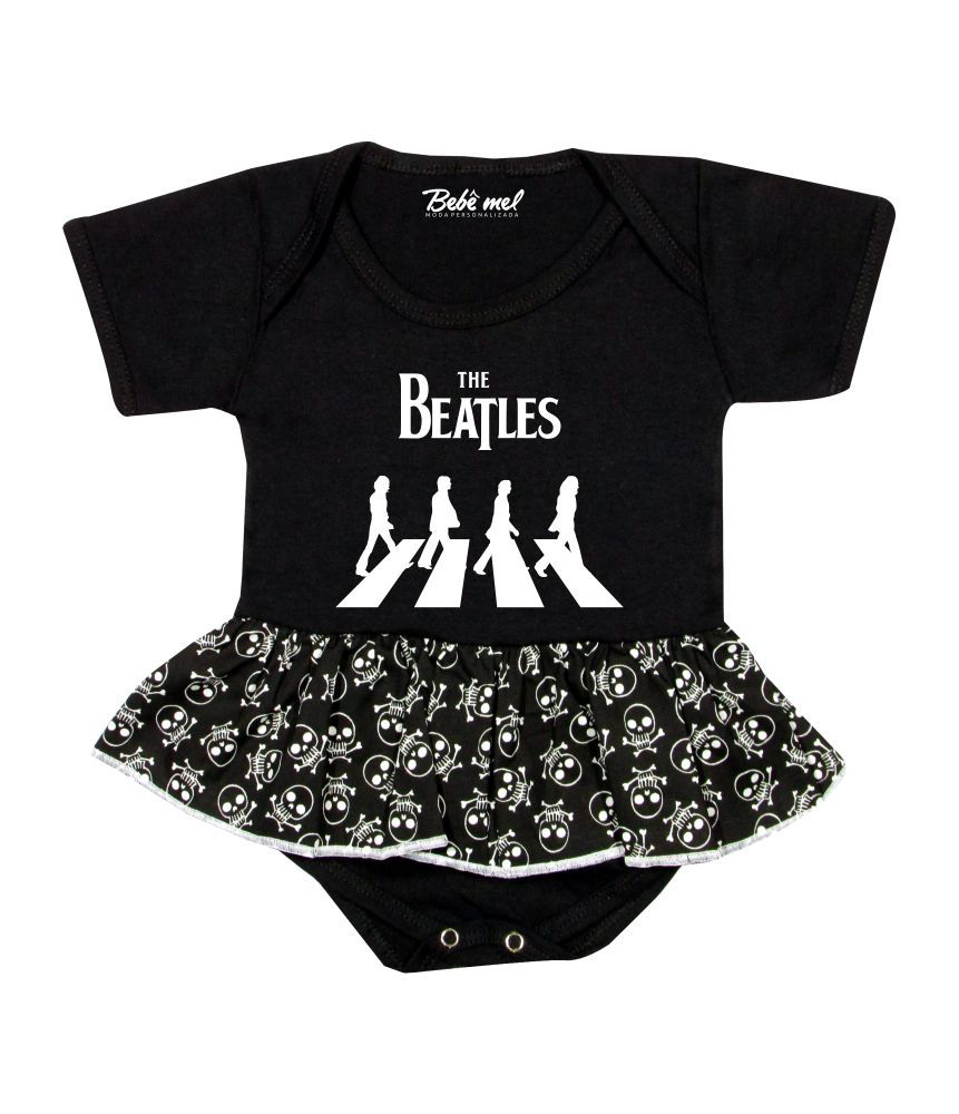 Body Saia Bebê Banda Beatles Rock´n Roll