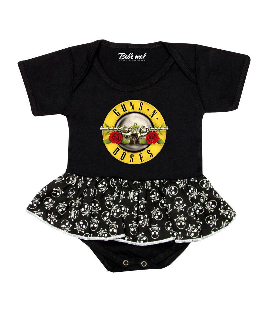 Body Saia Bebê Banda Guns ´N Roses Rock´n Roll