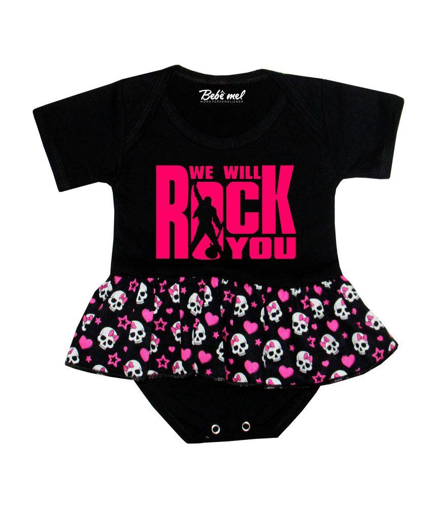 Body Saia Bebê Banda Queen We Will Rock You