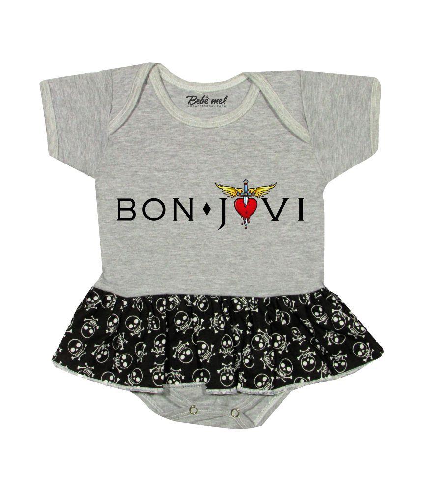 Body Saia Bebê Rock Banda Bon Jovi