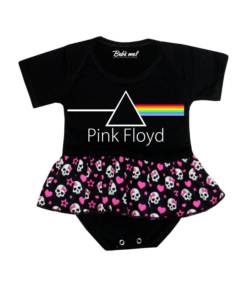 Body Saia Bebê Rock Pink Floyd