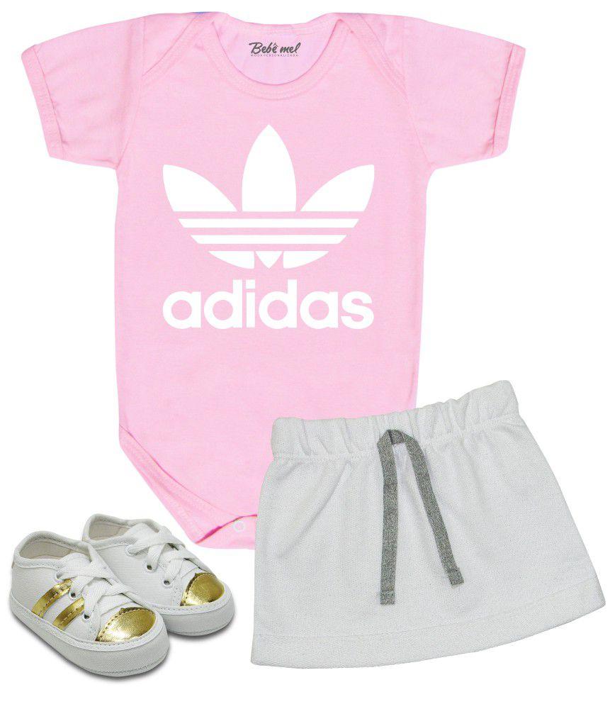 Conjunto Bebê Adidas Body Saia e Tênis