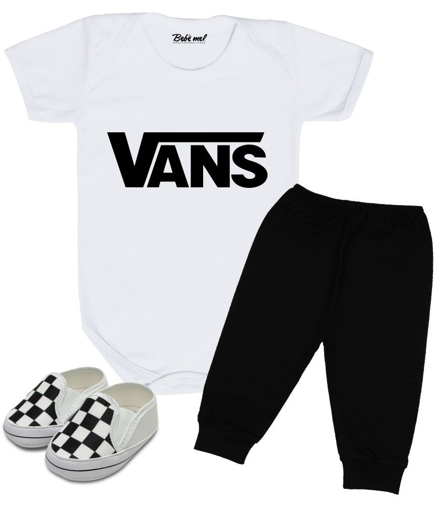 Conjunto Bebê Body Calça e Tênis Vans