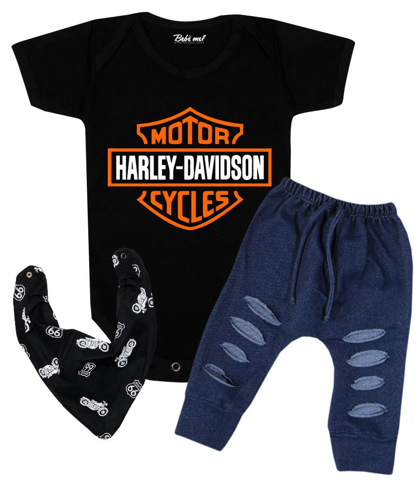 Conjunto Bebê Body Estiloso Harley Davidson
