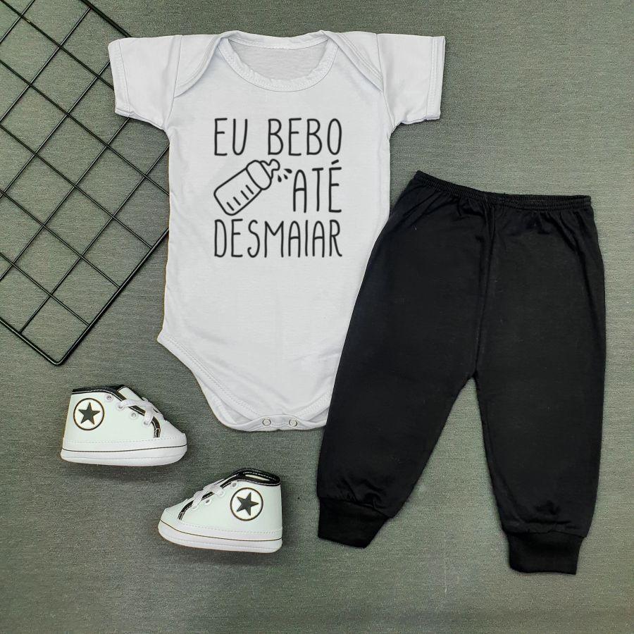 Conjunto Bebê Divertido Bebo até desmaiar