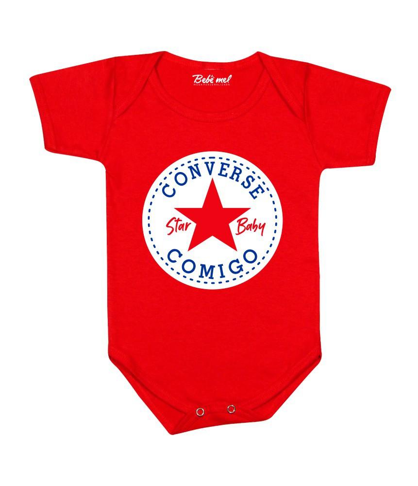 Conjunto Bebê Estiloso All Star Converse Comigo