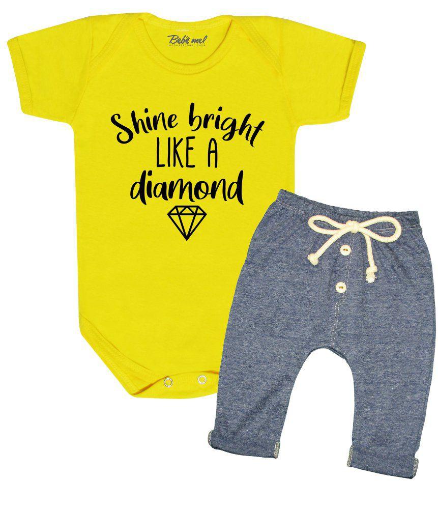 Conjunto Bebê Estiloso Diamond