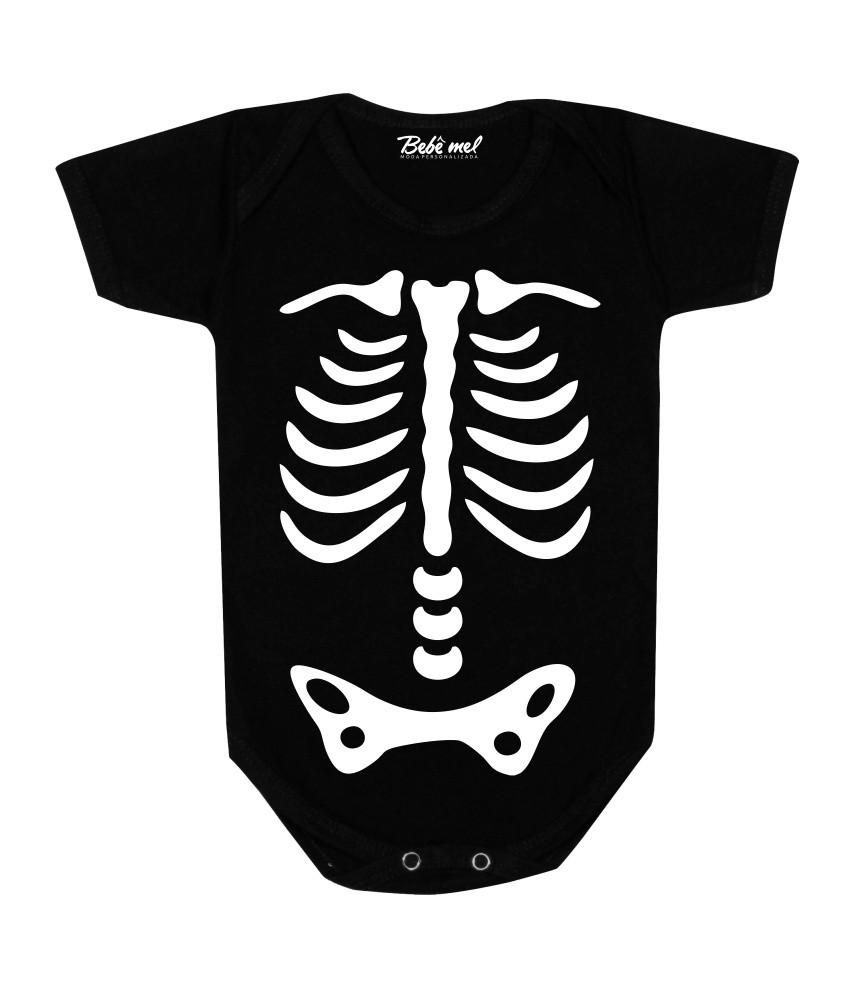 Conjunto Bebê Halloween Esqueleto