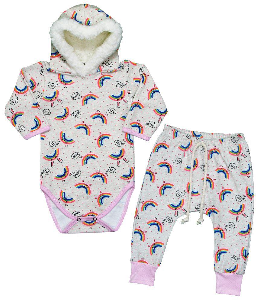 Conjunto Bebê Menina Inverno Arco Íris