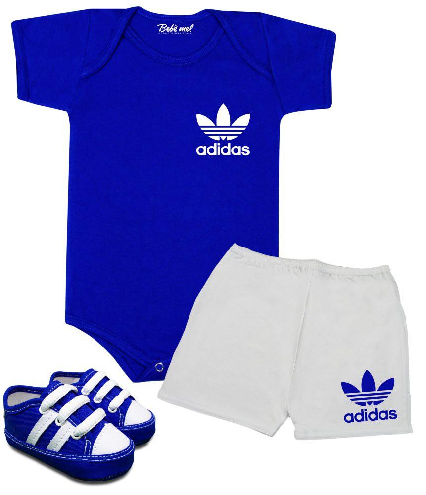 Conjunto Bebê Menino Adidas Body Shorts e Tênis
