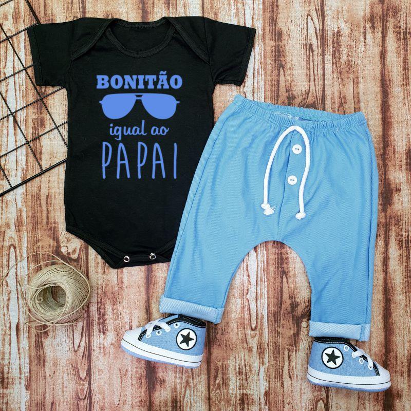 Conjunto Bebê Menino Bonitão igual ao papai