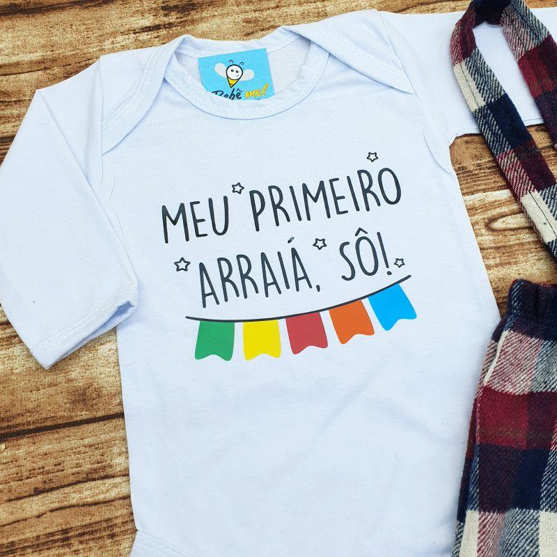 Conjunto Bebê Meu Primeiro Arraiá Festa Junina
