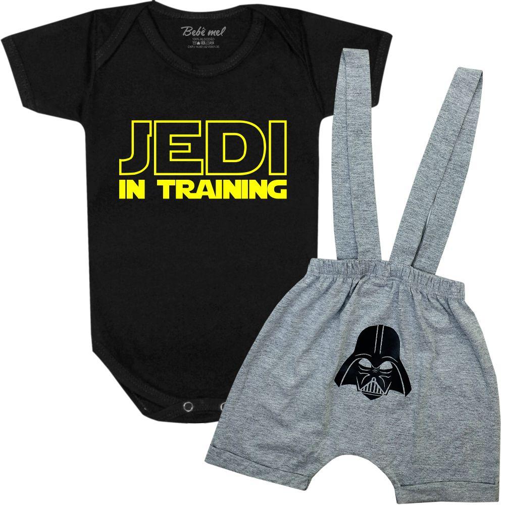 Conjunto de Bebê Geek Star Wars Jedi in Training