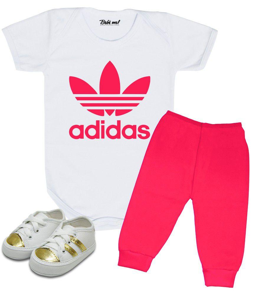 Conjunto de Bebê Menina Adidas Pink
