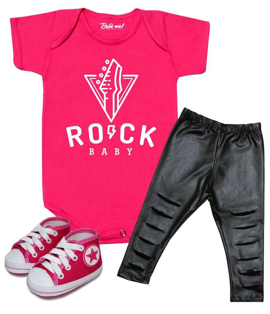 Conjunto de Bebê Rock Baby Menina