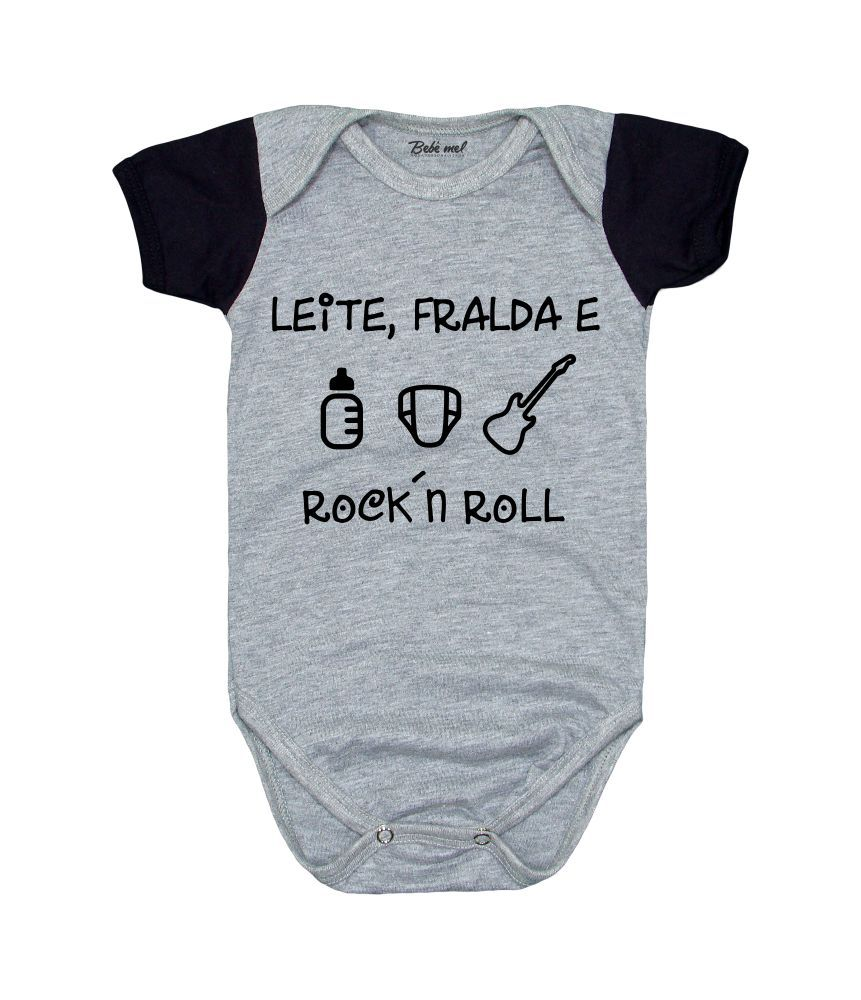 Conjunto de Rock Leite Fralda Bebê Roupa Estilosa