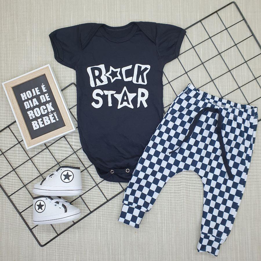 Conjunto Estiloso Bebê Rock Star