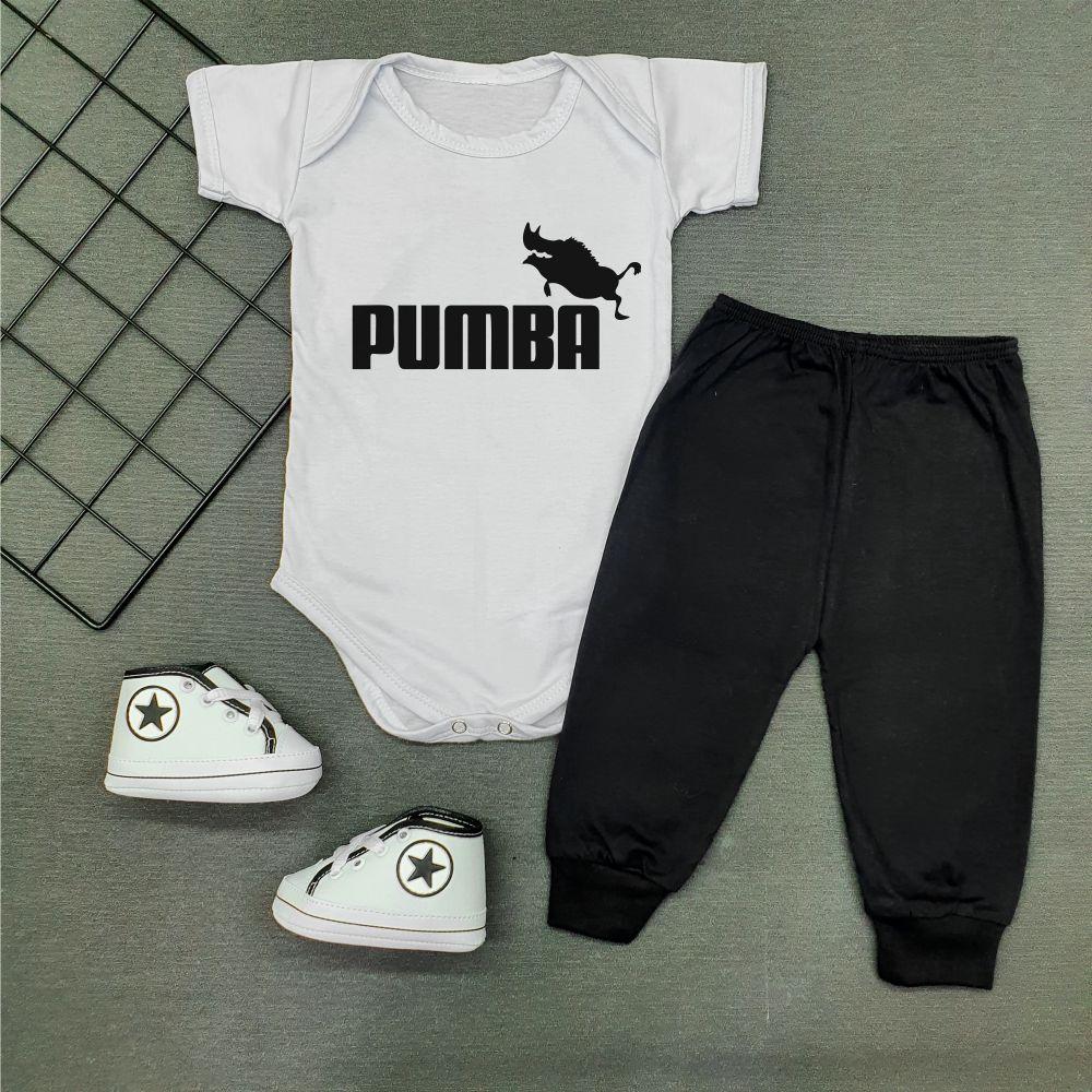 Conjunto Roupa Bebê Estiloso Pumba