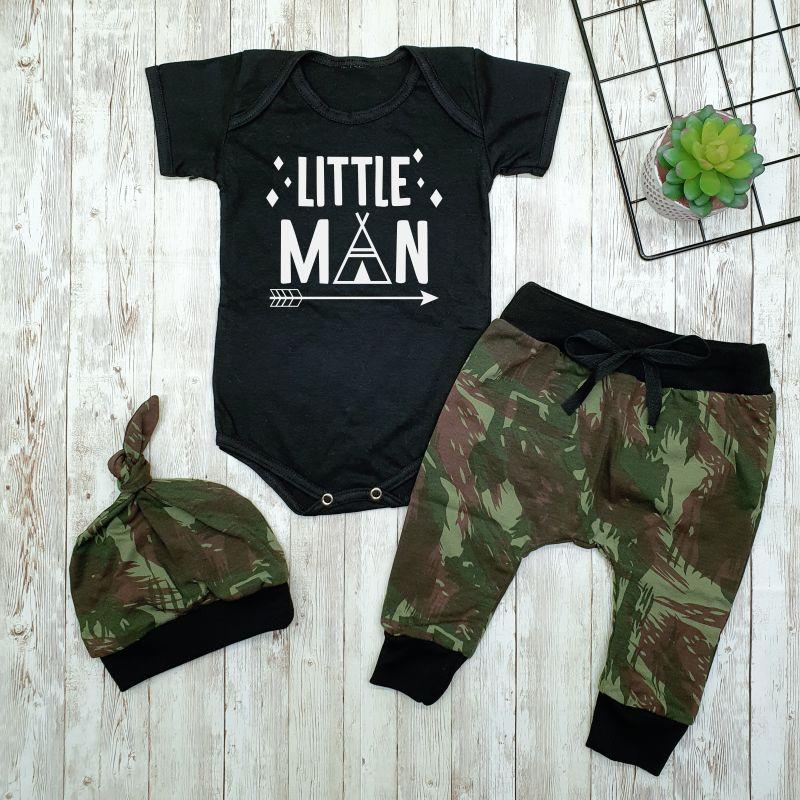Conjunto Roupa Bebê Menino Estiloso Little Man
