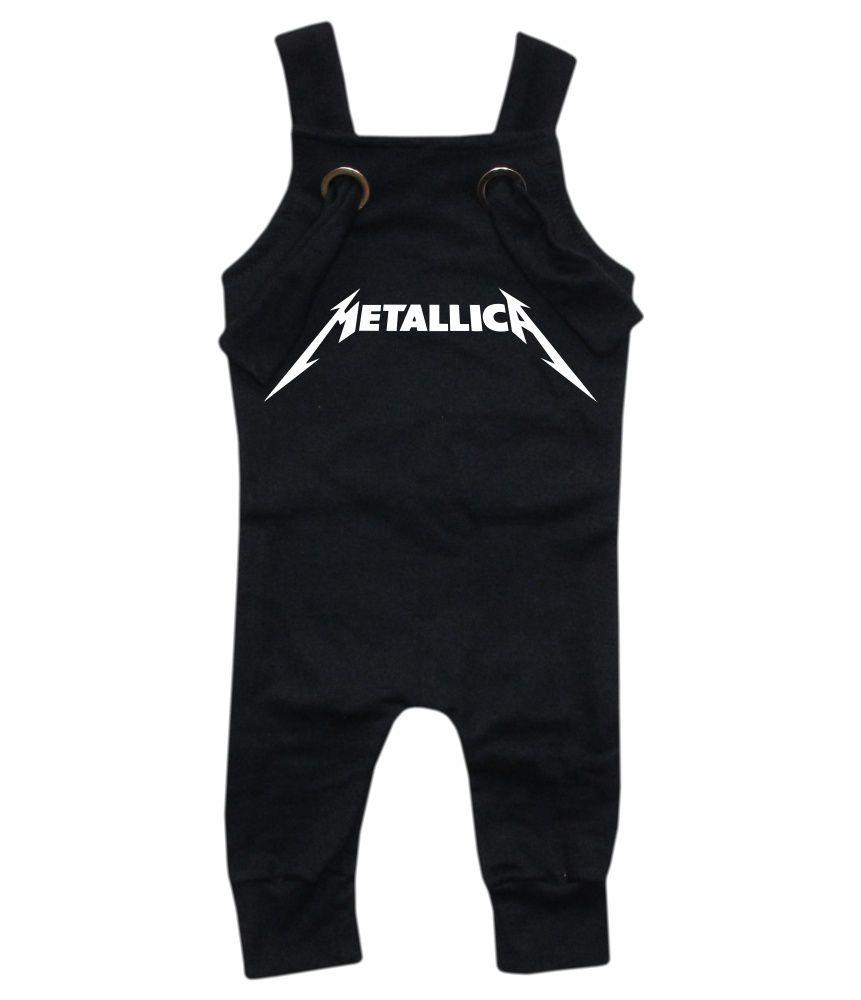 Jardineira Para bebê Macacão Estiloso Rock Metallica